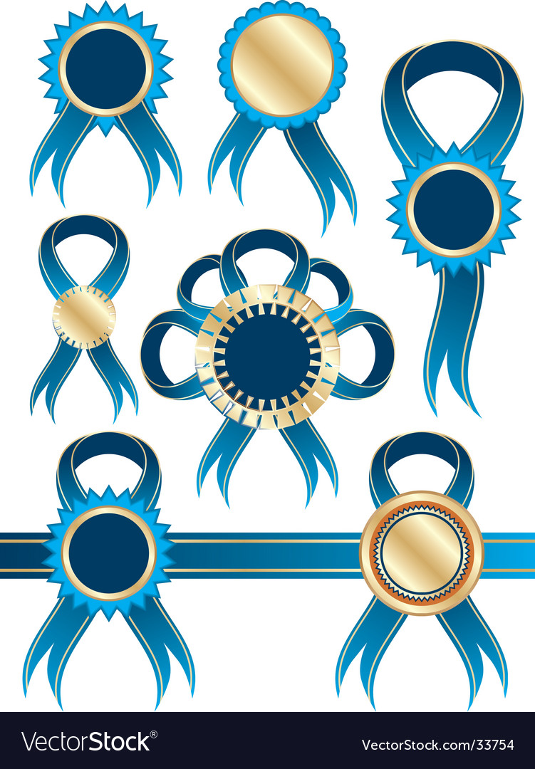 Ribbons and medals vector | Price: 1 Credit (USD $1)