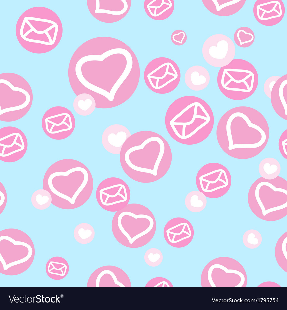 Seamless texture with hearts and envelopes vector | Price: 1 Credit (USD $1)