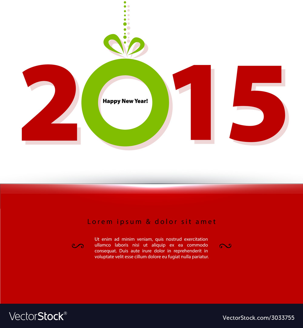 2015 new year vector   Price: 1 Credit (USD $1)