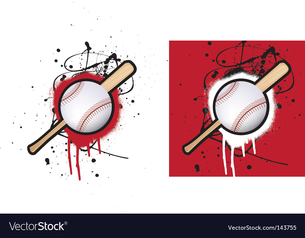 Baseball splat vector | Price: 1 Credit (USD $1)