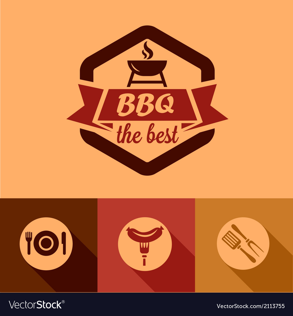 Bbq design elements vector | Price: 1 Credit (USD $1)