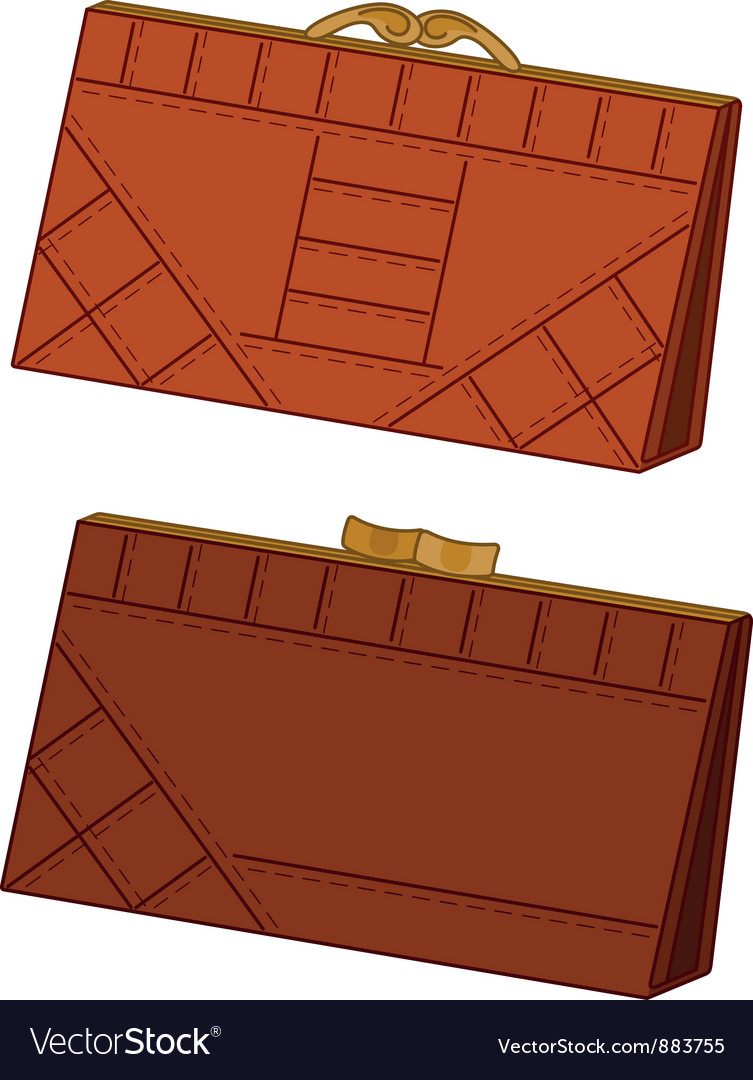 Brown leather wallets set vector | Price: 1 Credit (USD $1)