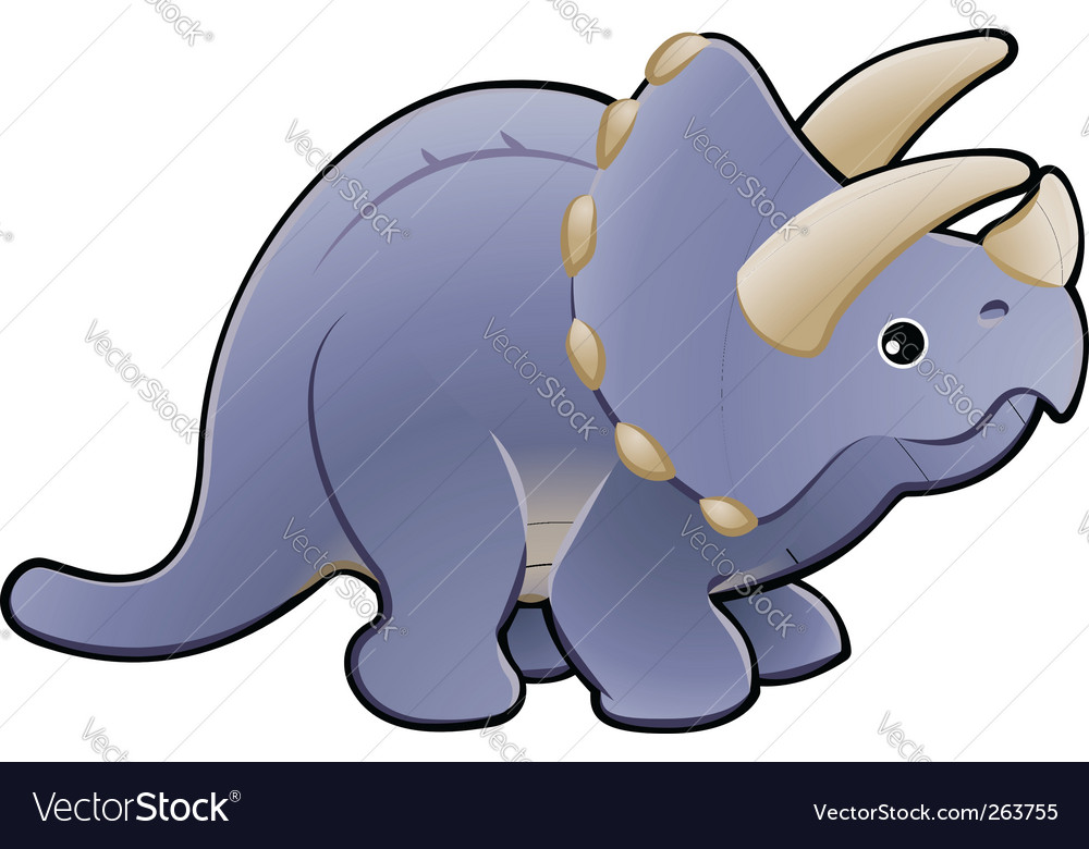 Cartoon dinosaur vector | Price: 1 Credit (USD $1)