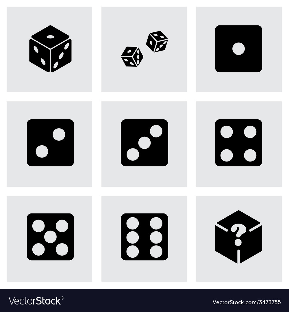 Dice icon set vector | Price: 1 Credit (USD $1)