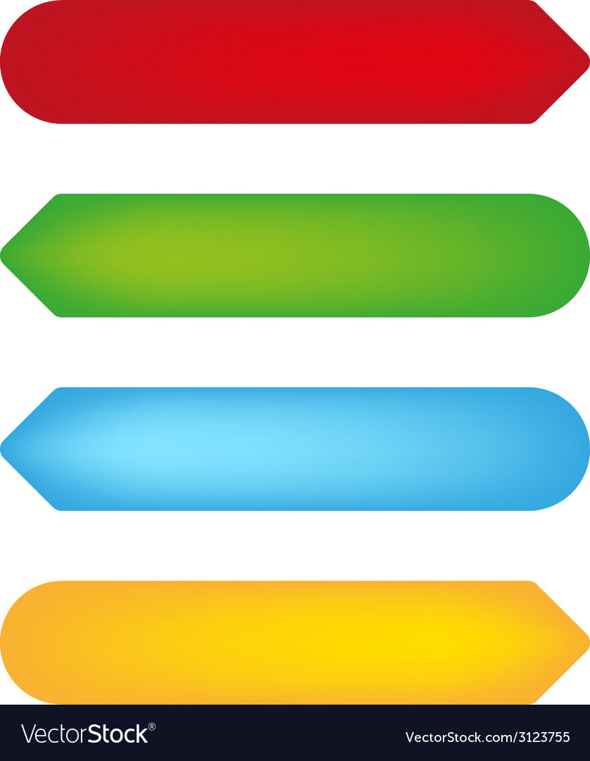 Empty color tags vector | Price: 1 Credit (USD $1)