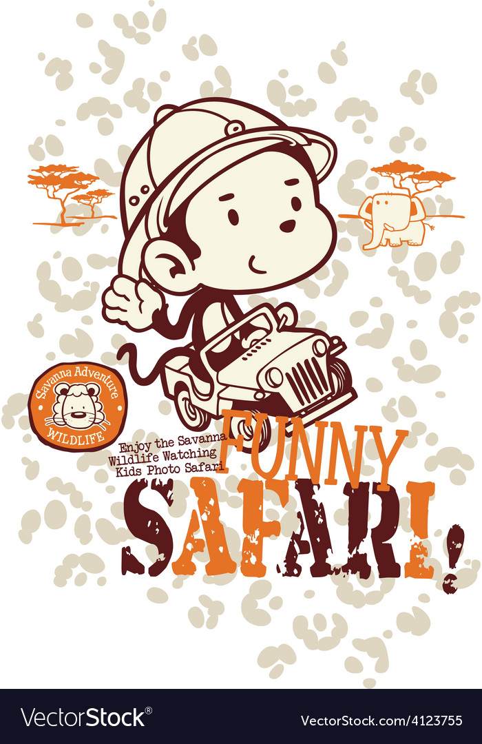 Funny safari monkey vector | Price: 1 Credit (USD $1)