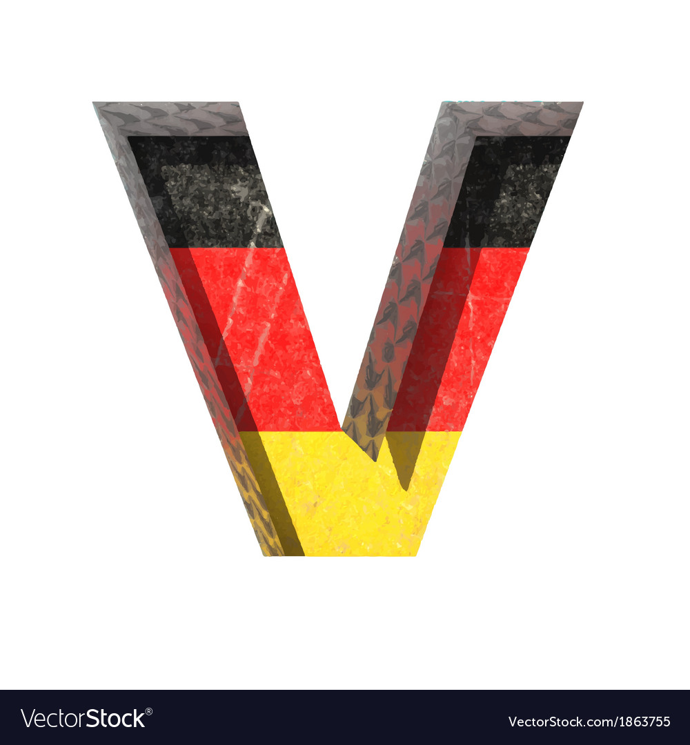 Germany cutted figure v vector | Price: 1 Credit (USD $1)