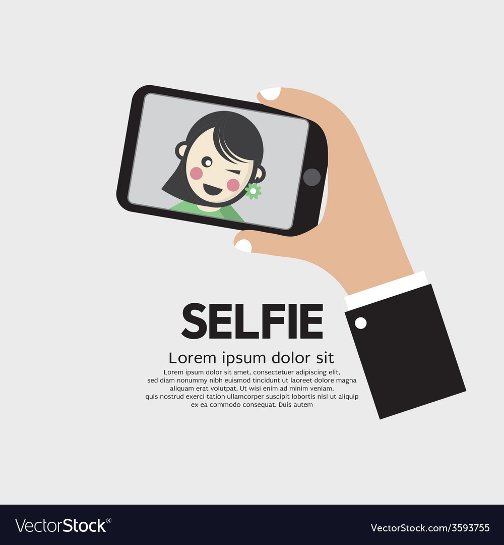 Selfie by phone lifestyle with technology vector | Price: 1 Credit (USD $1)