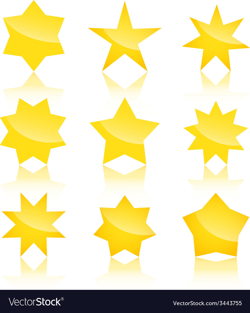 Set of star icons isolated on white background vector | Price: 1 Credit (USD $1)
