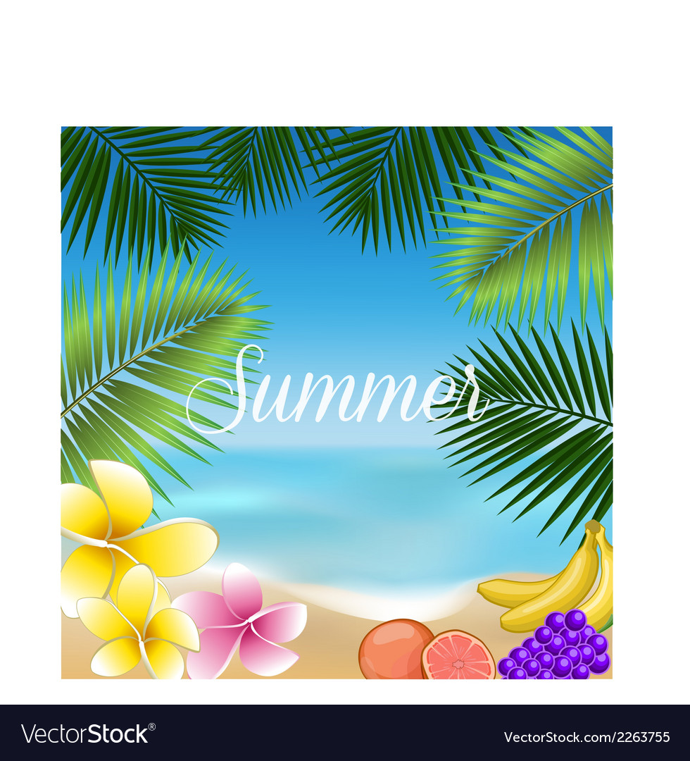 Summer holidays set vector | Price: 1 Credit (USD $1)