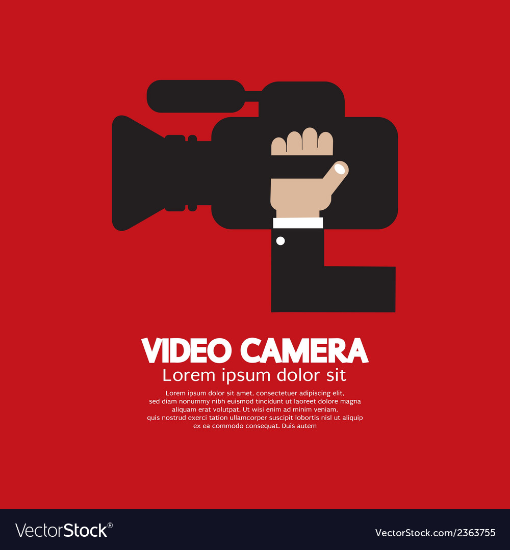 Video camera vector | Price: 1 Credit (USD $1)