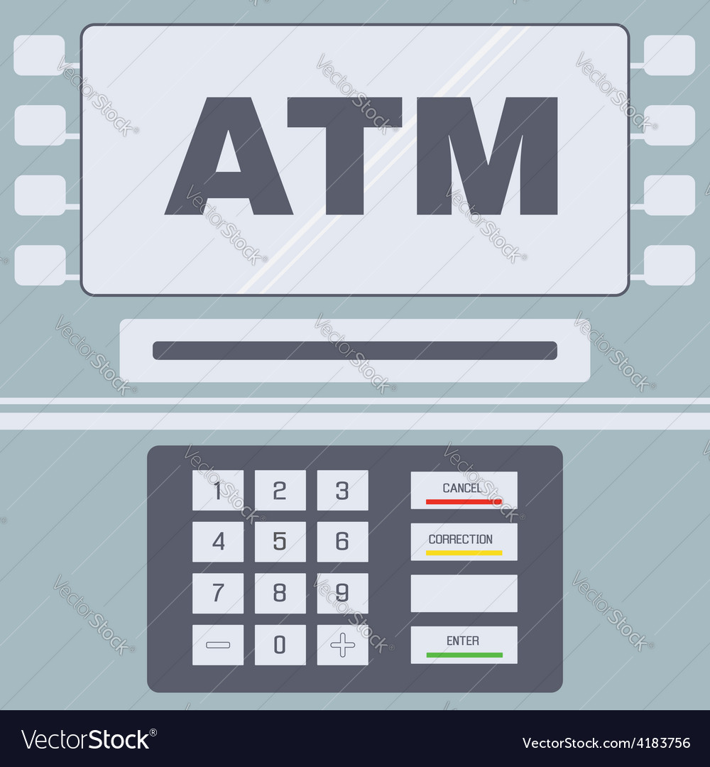 Atm user interface vector | Price: 1 Credit (USD $1)