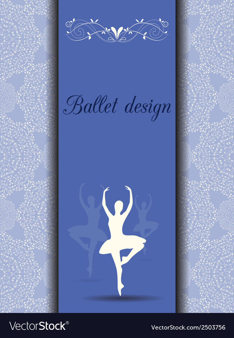 Ballet design card vector | Price: 1 Credit (USD $1)