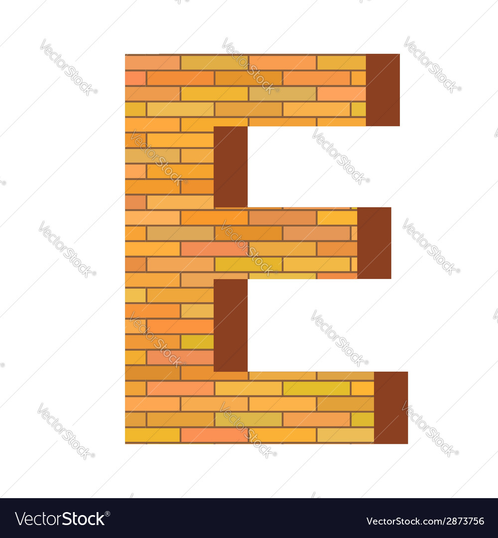 Brick letter e vector | Price: 1 Credit (USD $1)