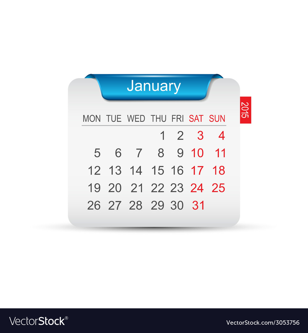 Calendar january 2015 vector   Price: 1 Credit (USD $1)