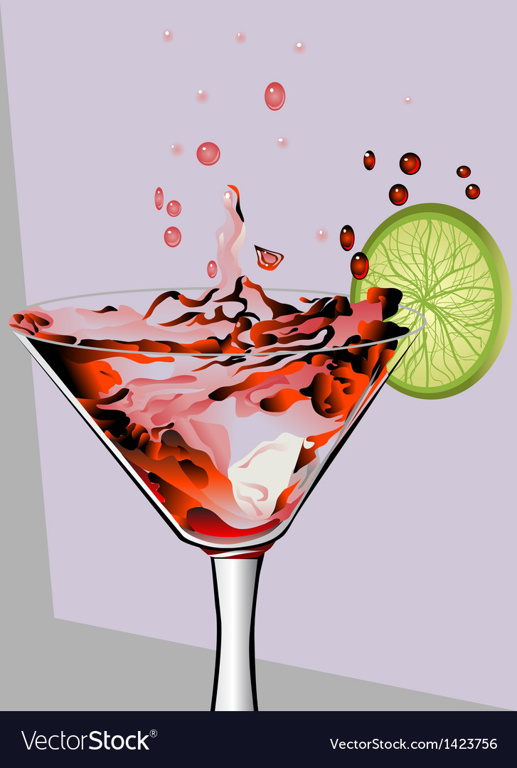 Cocktail and lime vector | Price: 1 Credit (USD $1)