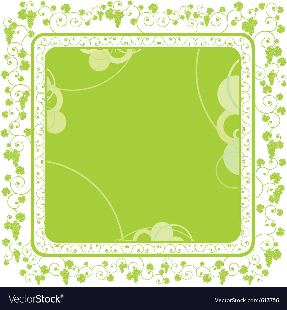 Grape vine border vector | Price: 1 Credit (USD $1)