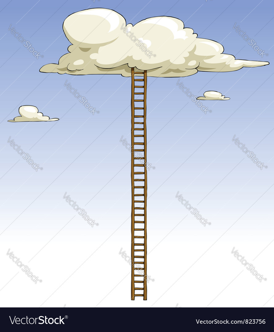 Ladder to the clouds vector | Price: 1 Credit (USD $1)