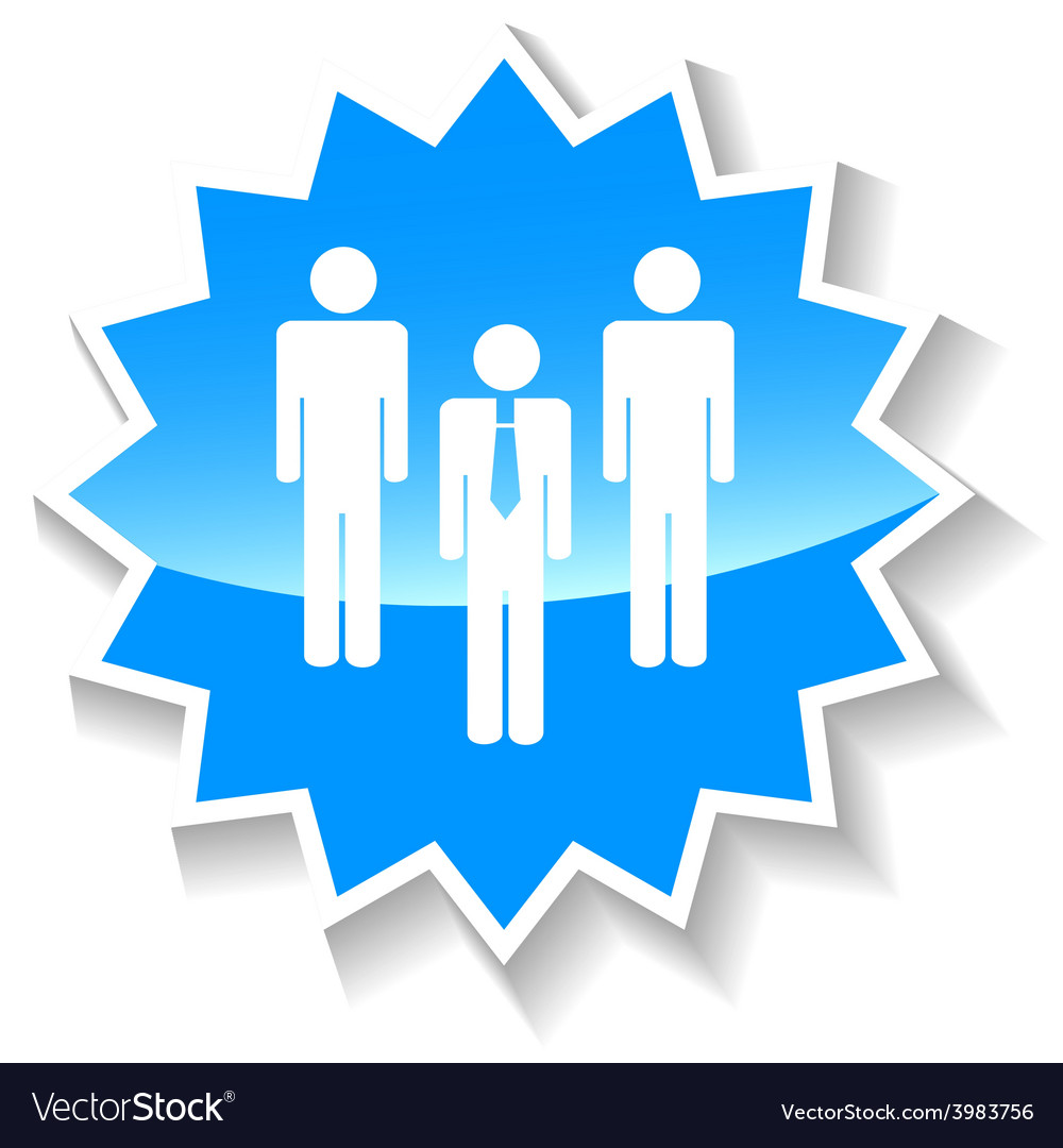Leader blue icon vector | Price: 1 Credit (USD $1)