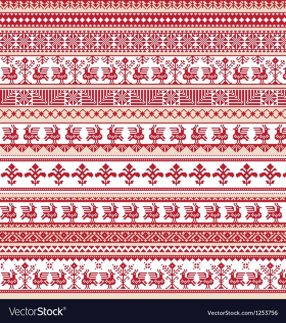 Set of differents repeating scroll borders vector | Price: 1 Credit (USD $1)