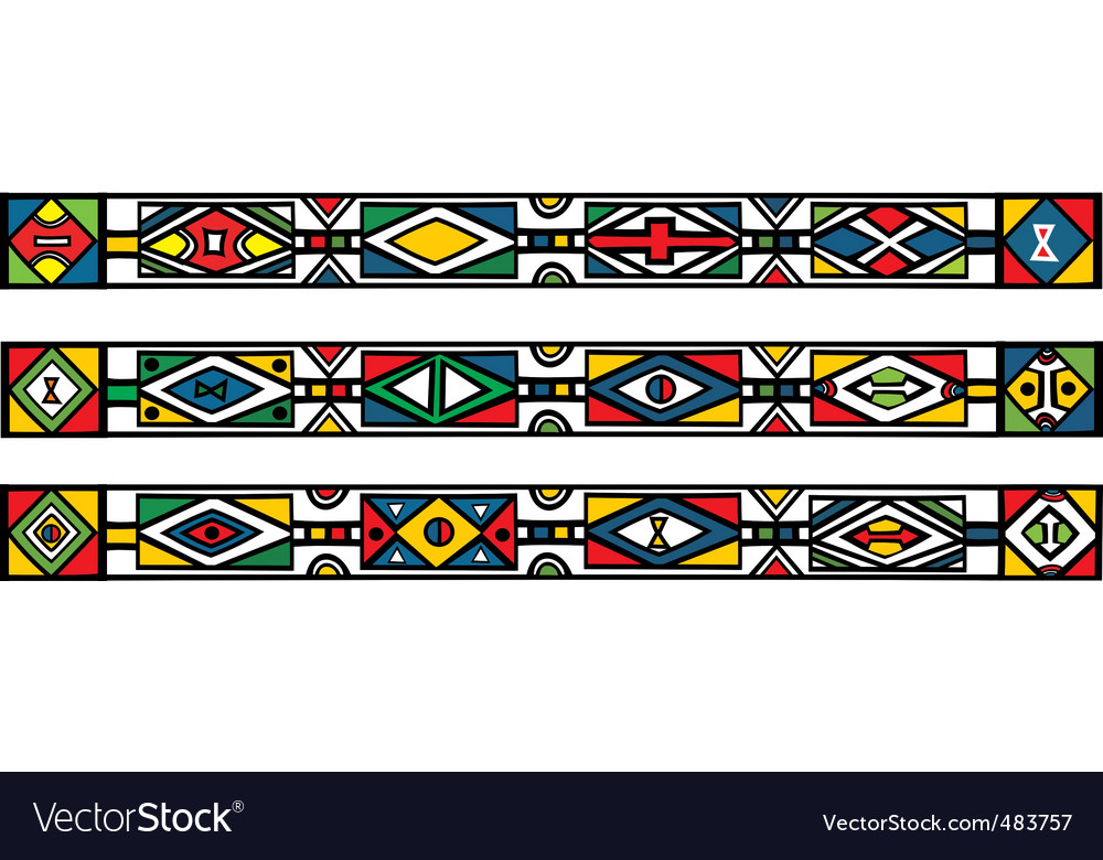 African ndebele patterns vector | Price: 1 Credit (USD $1)