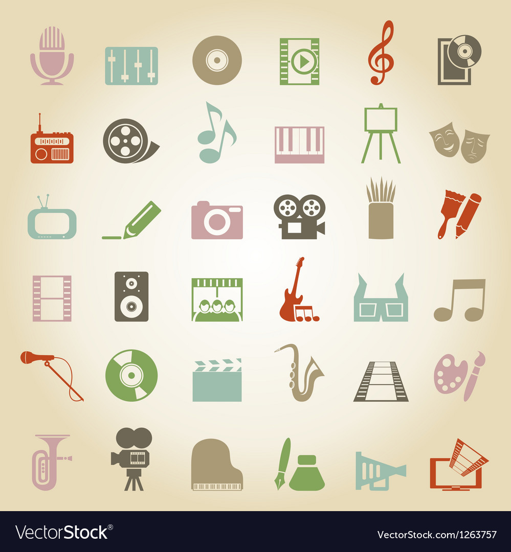Art music media icon vector | Price: 1 Credit (USD $1)