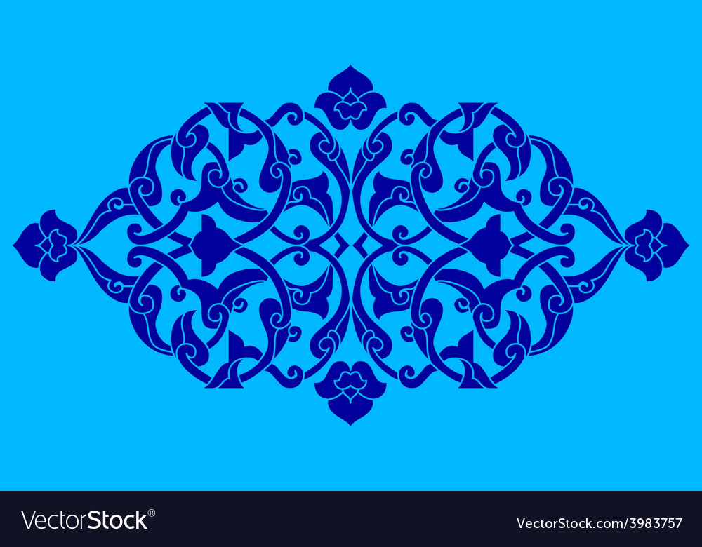 Artistic ottoman pattern series fifty nine vector | Price: 1 Credit (USD $1)