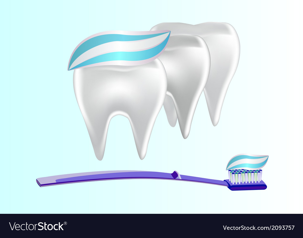 Banner toothpaste teeth vector | Price: 1 Credit (USD $1)