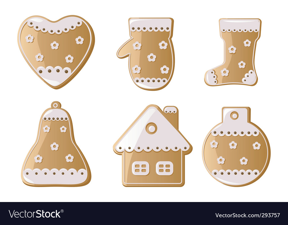Christmas gingerbread cookies vector | Price: 1 Credit (USD $1)