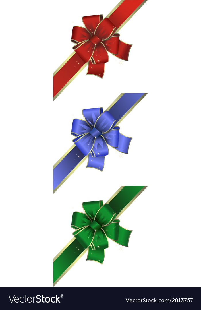 Colorful bow collection vector | Price: 1 Credit (USD $1)