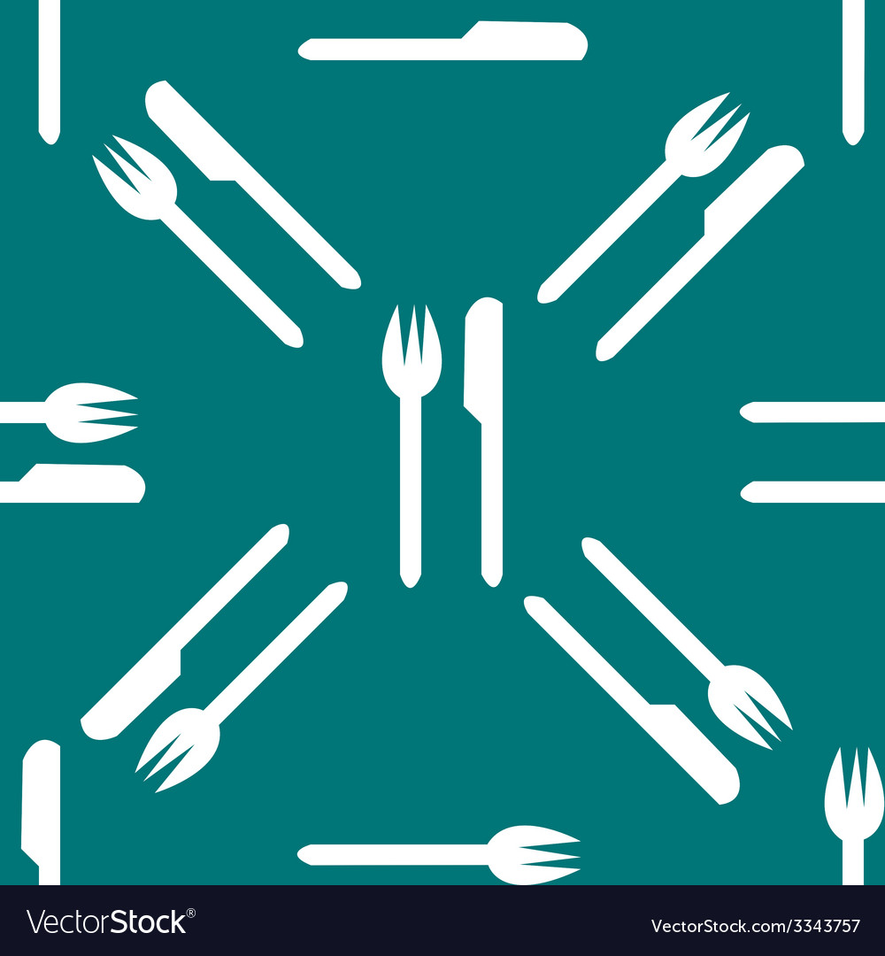 Cutlery knife fork web icon flat design seamless vector | Price: 1 Credit (USD $1)