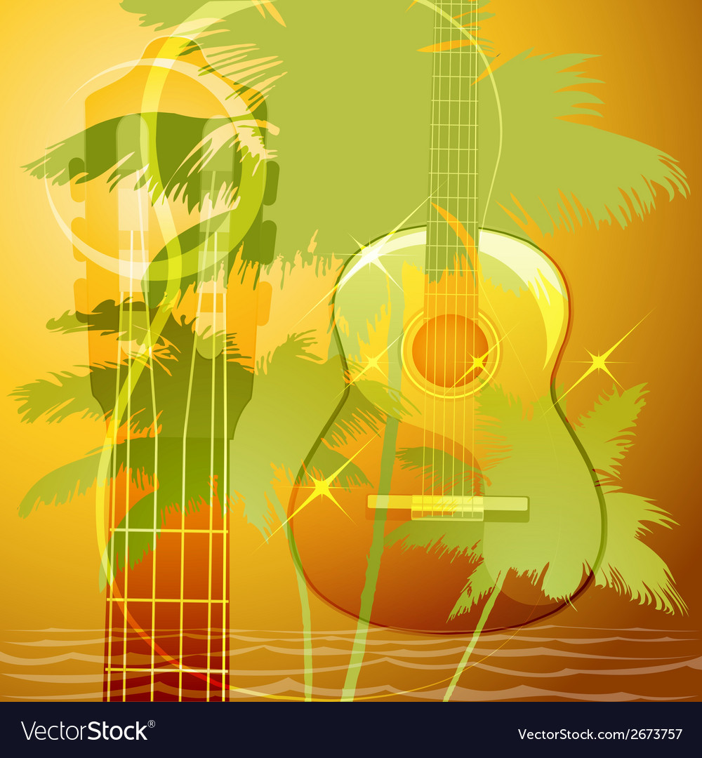The guitar music vector | Price: 1 Credit (USD $1)