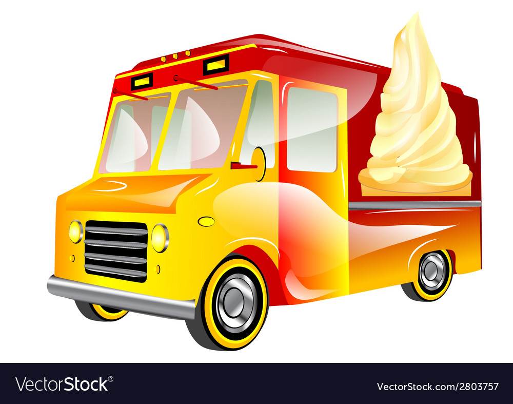 Ice cream van vector | Price: 1 Credit (USD $1)