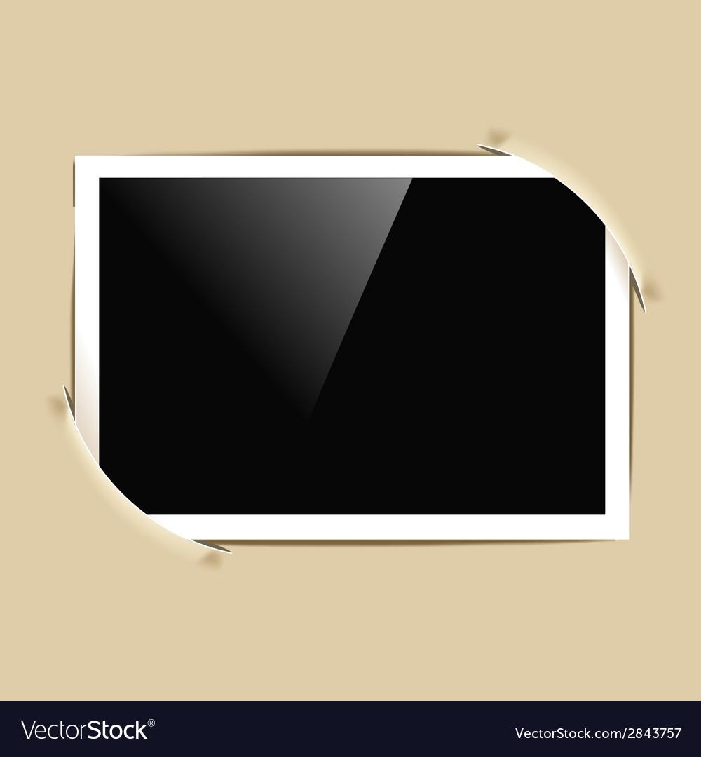 Photo frame in album vector