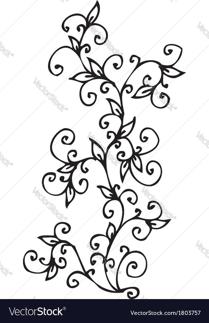 Refined floral vignette cv vector | Price: 1 Credit (USD $1)