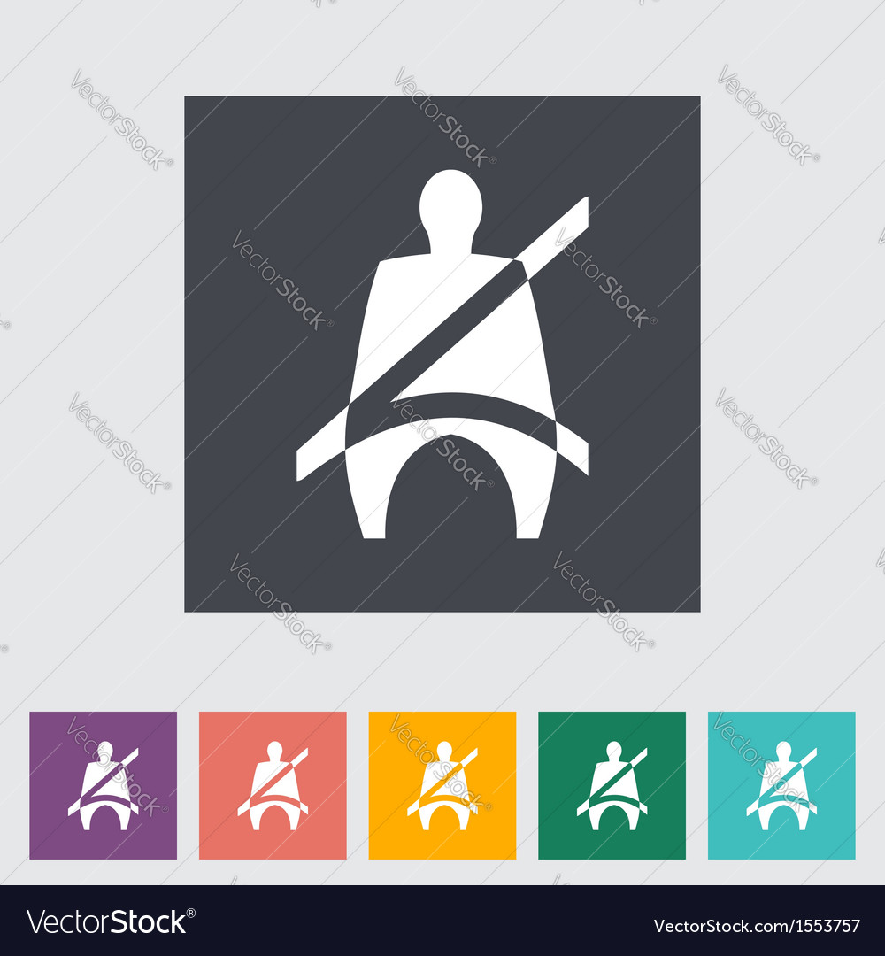 Seat belt vector | Price: 1 Credit (USD $1)