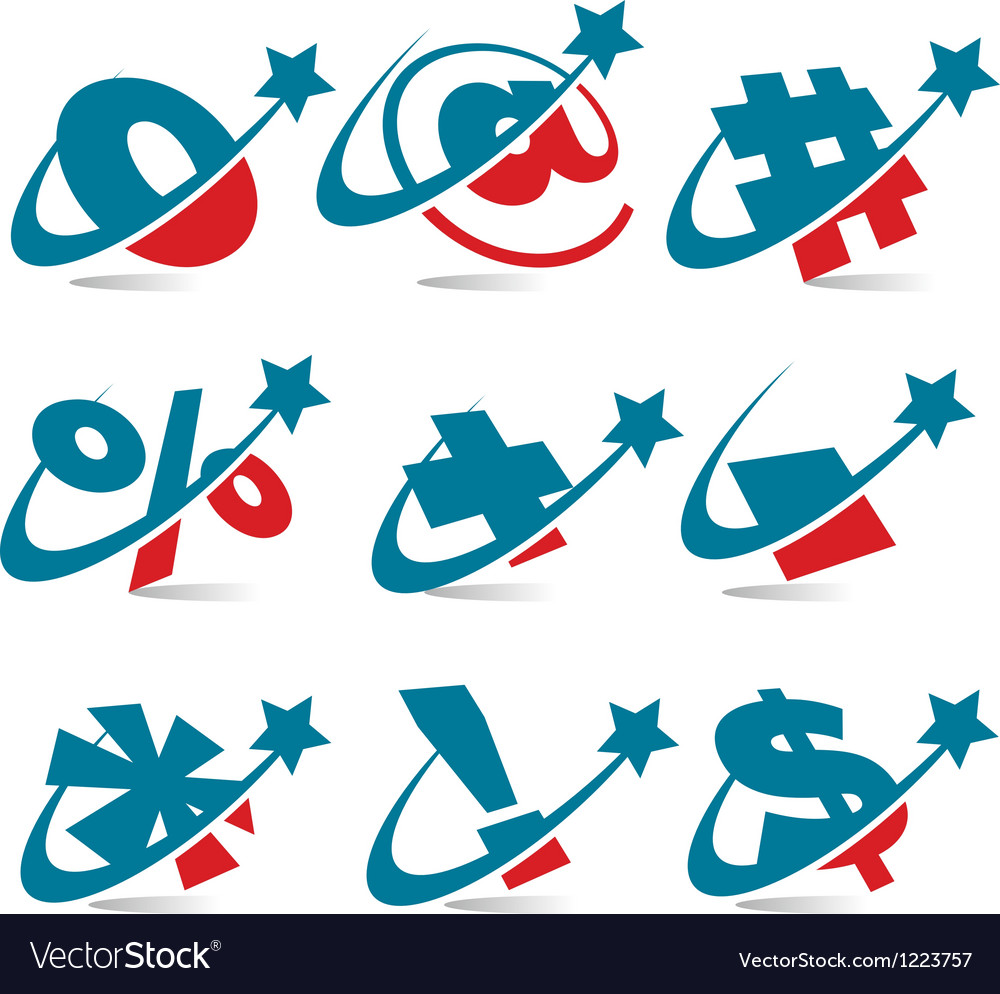 Swoosh patriotic logo symbols vector | Price: 1 Credit (USD $1)