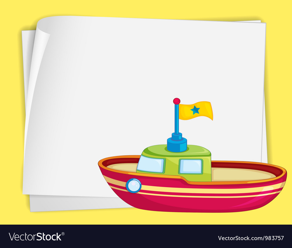 Toy boat border vector | Price: 3 Credit (USD $3)