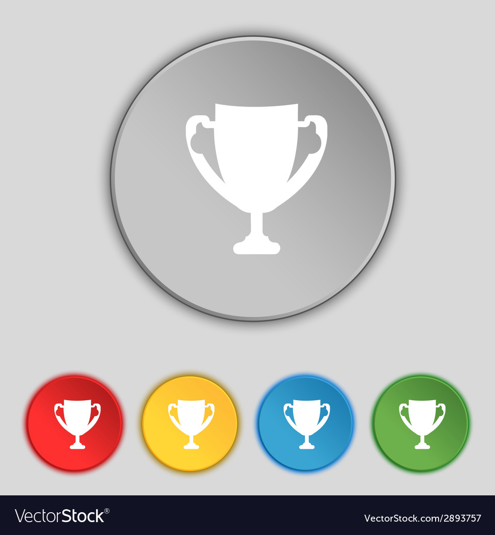 Winner cup sign icon awarding of winners symbol vector | Price: 1 Credit (USD $1)
