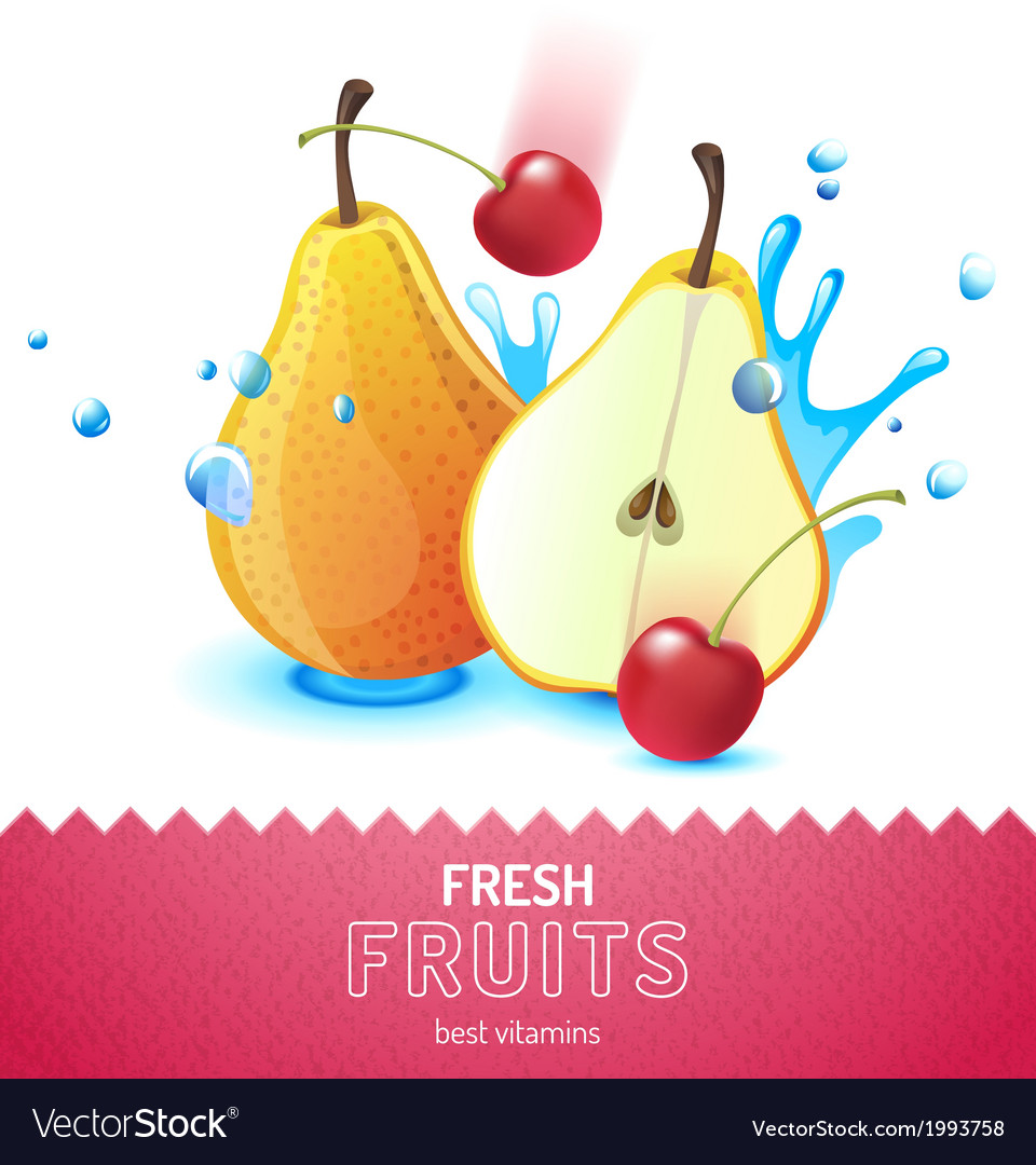 Bright fruit background vector | Price: 1 Credit (USD $1)