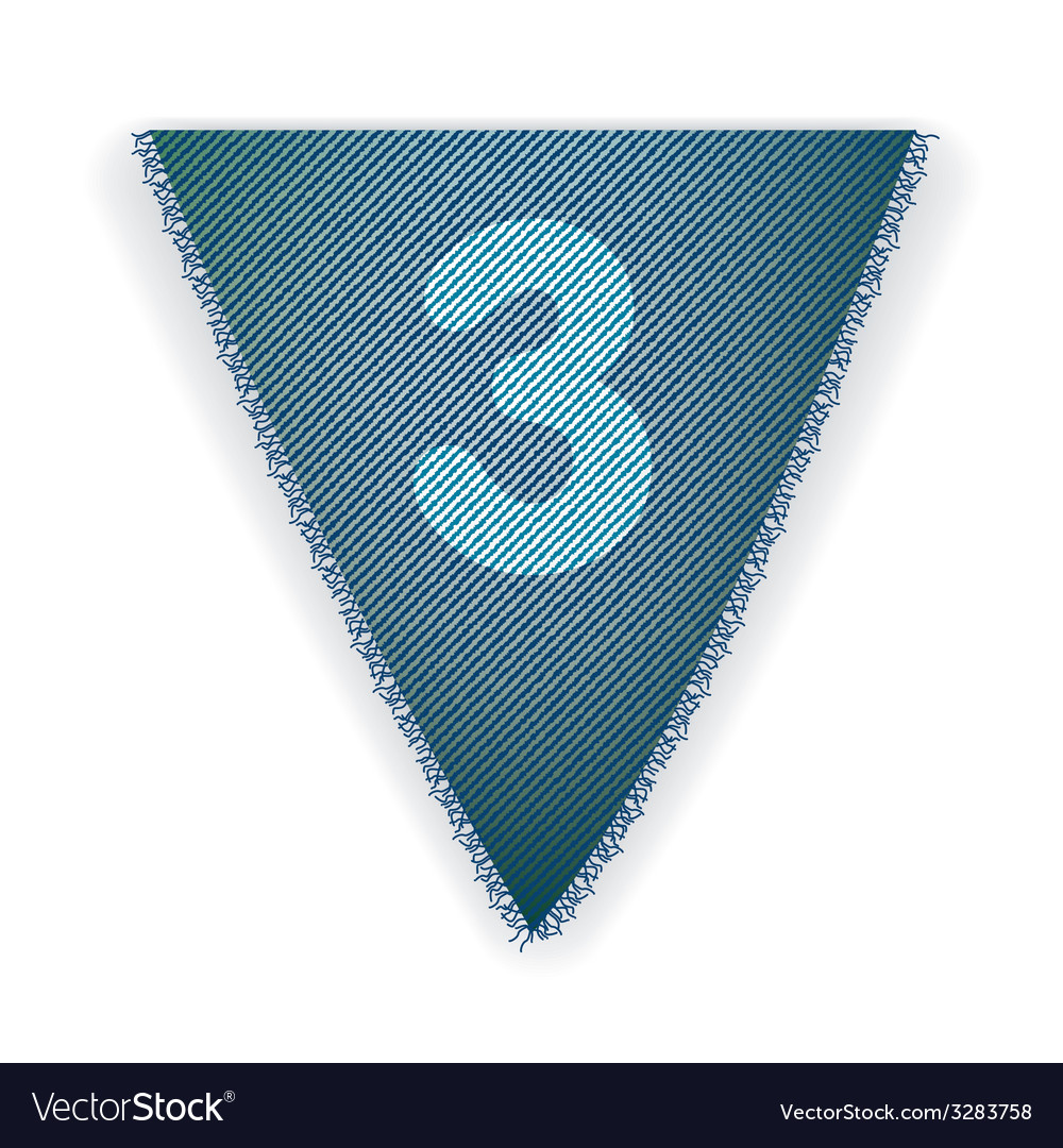Bunting flag number 3 vector | Price: 1 Credit (USD $1)