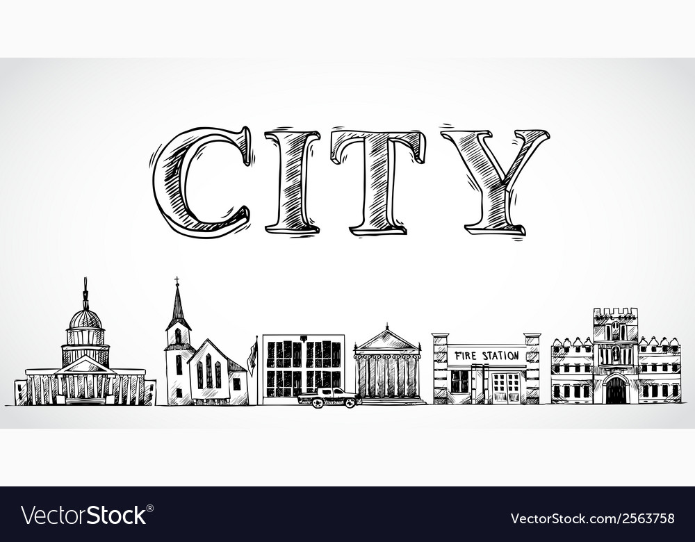 City town background vector | Price: 1 Credit (USD $1)