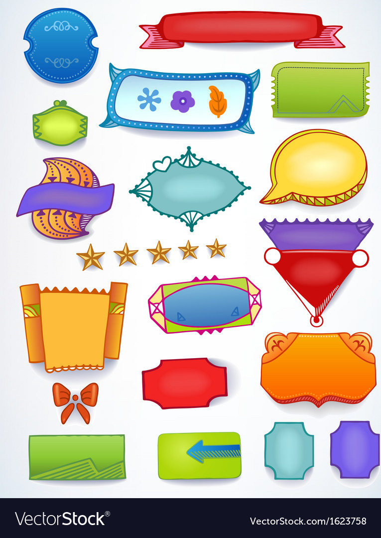 Colored sales blank promotion set vector | Price: 1 Credit (USD $1)
