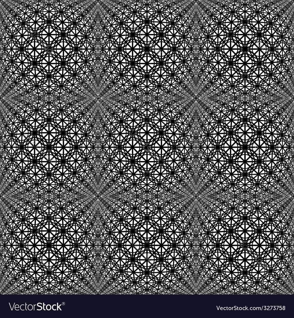 Design seamless monochrome warped pattern vector   Price: 1 Credit (USD $1)