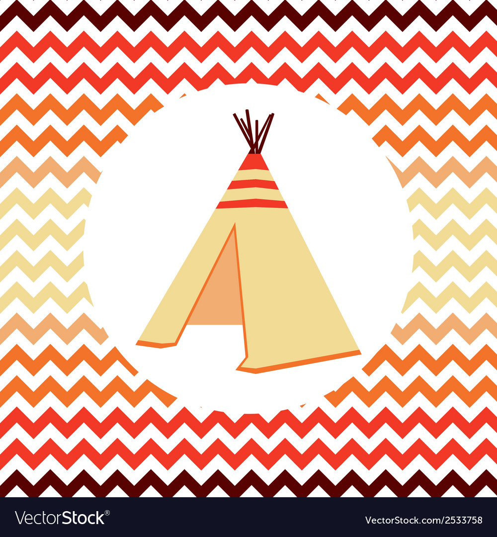Ethnic  wigwam vector | Price: 1 Credit (USD $1)