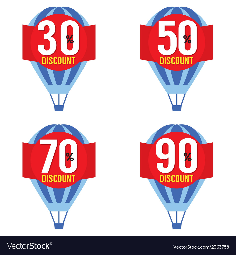 Hot air balloon sale vector | Price: 1 Credit (USD $1)
