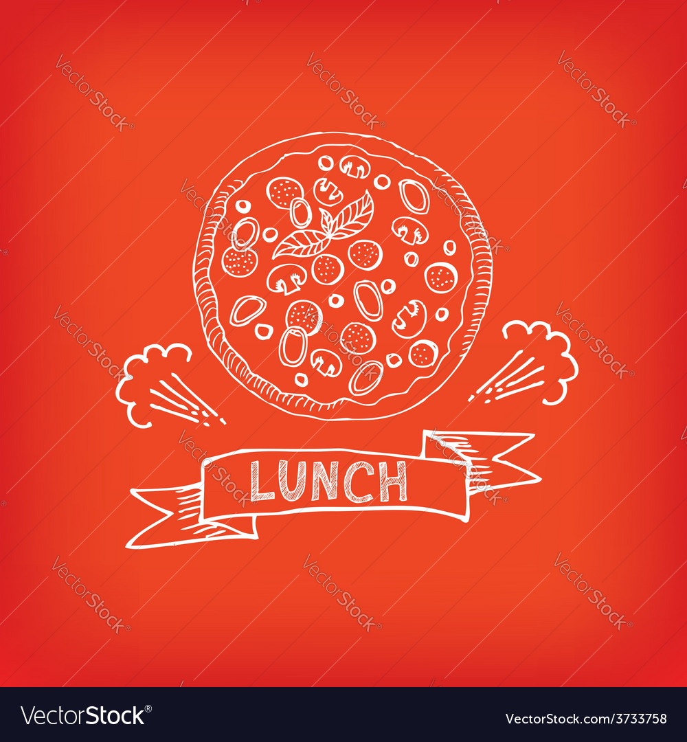 Lunch menu restaurant design vector | Price: 1 Credit (USD $1)