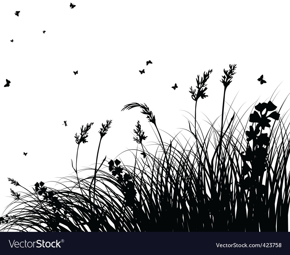 Meadow silhouettes vector | Price: 1 Credit (USD $1)