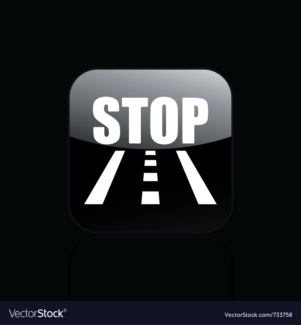 Road stop icon vector | Price: 1 Credit (USD $1)