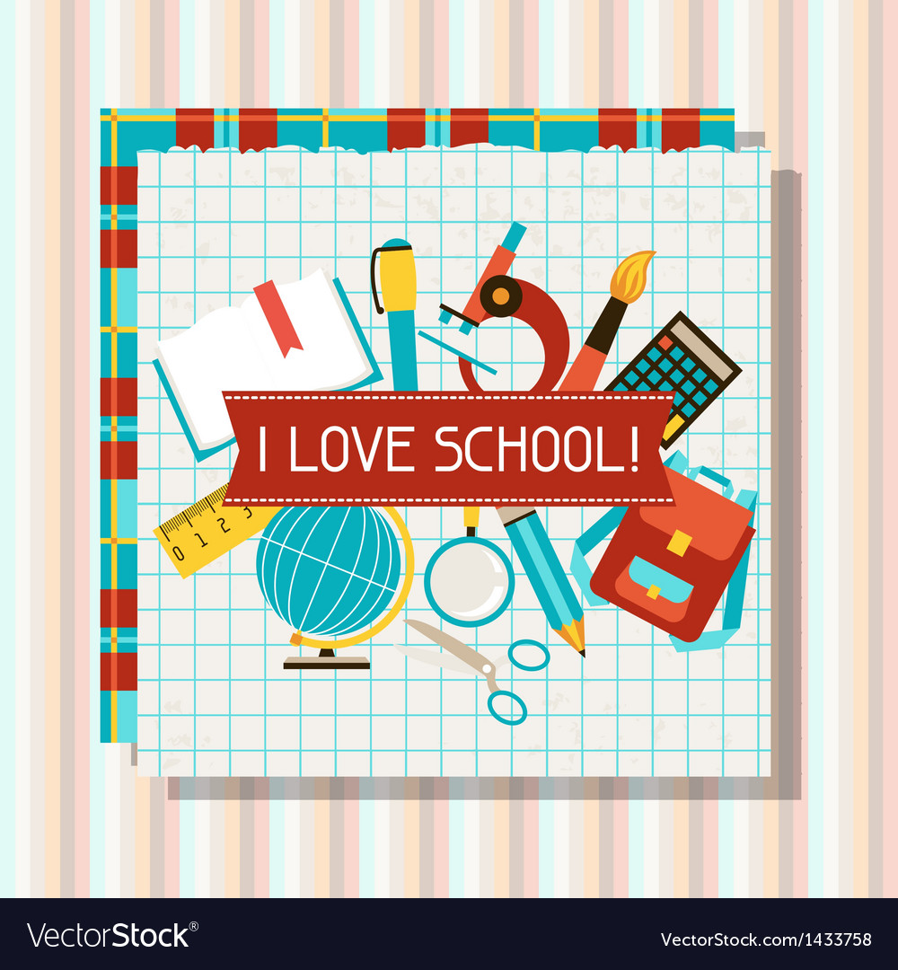 School and education background with sticky papers vector | Price: 3 Credit (USD $3)